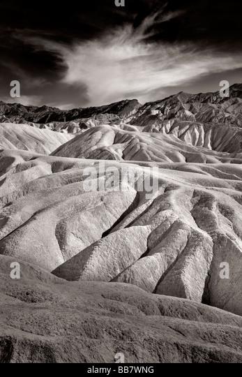 The Manifold near Zabriski Point in Death Valley National Park in California USA - Stock Image