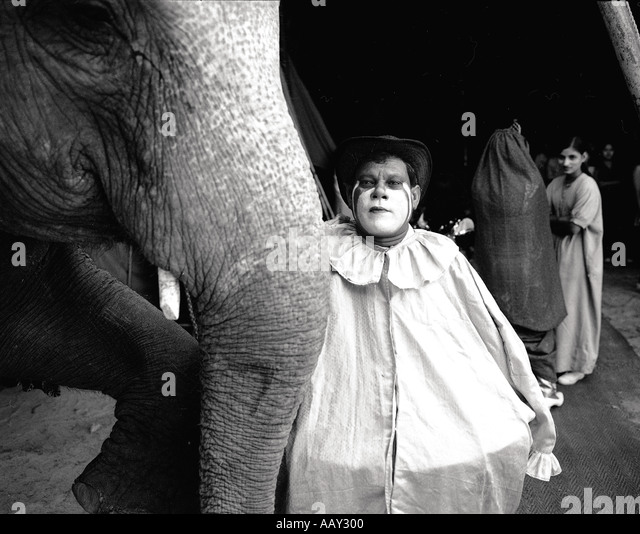 Many artists have a strong bond with the animals The Apollo circus artists earn their money through entertainment - Stock-Bilder