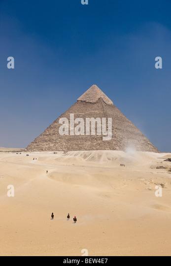 Pyramid of Khafra, Cairo, Egypt - Stock Image