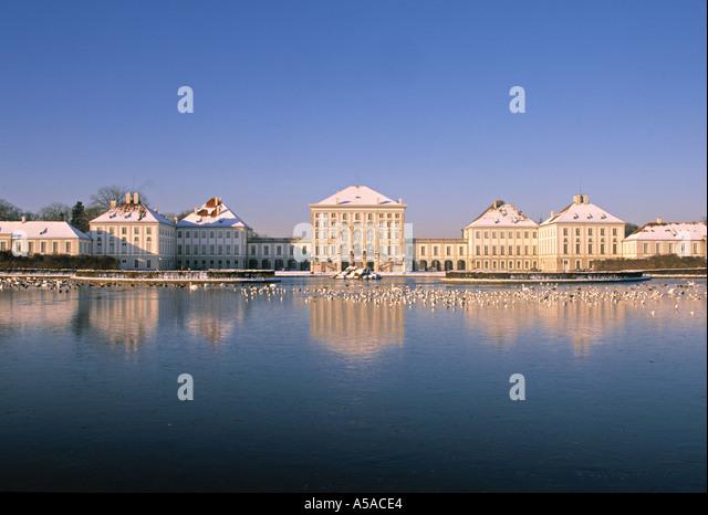 Schloss Nymbhenburg, Munich, Germany - Stock Image