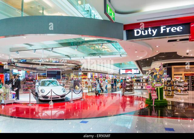 Dubai International Airport Duty free, Dubai City, United Arab Emirates, UAE, Middle east - Stock-Bilder