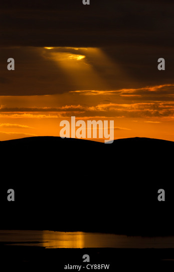 Crepuscular rays - Stock-Bilder