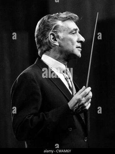 Leonard Berstein, 1968. Courtesy: CSU Archives/Everett Collection - Stock Image