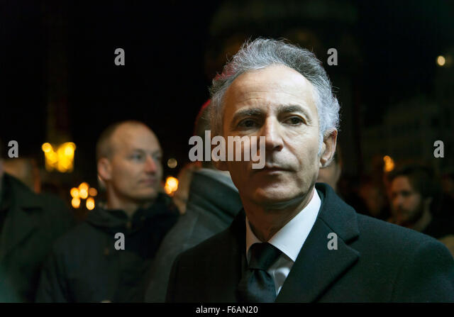 Copenhagen, Denmark. 15th November, 2015. French ambassador to Denmark, François Zimeray, participates in the - Stock Image