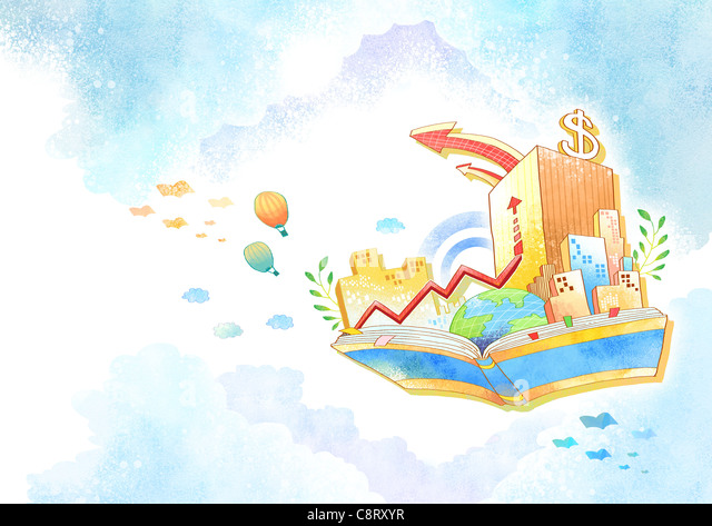 Illustration of dollar sign on building - Stock-Bilder