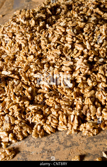 Shelled walnuts - Stock Image