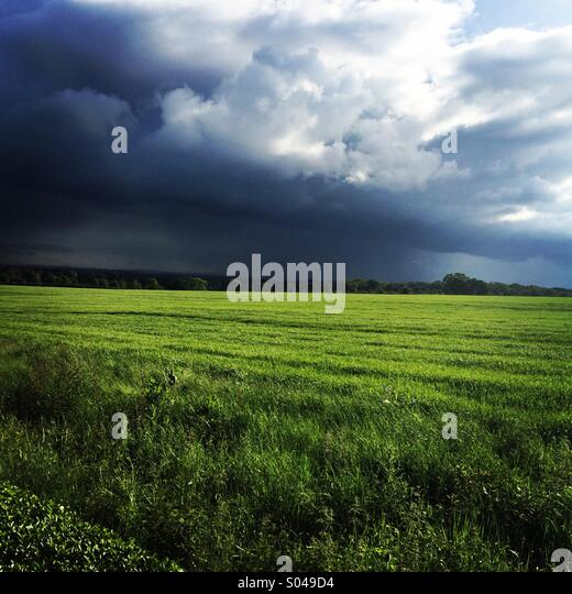 Stormy skies in the UK - Stock Image