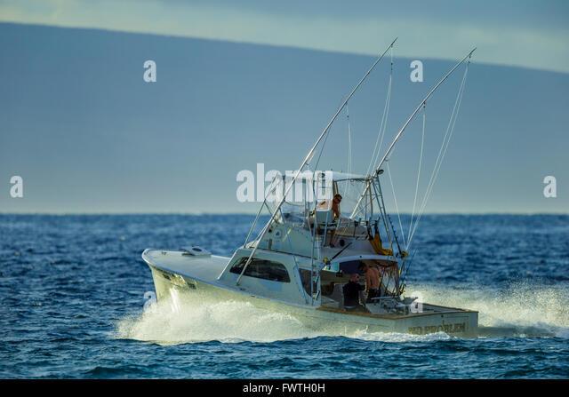 Boat fishing hawaii sport stock photos boat fishing for Maui sport fishing