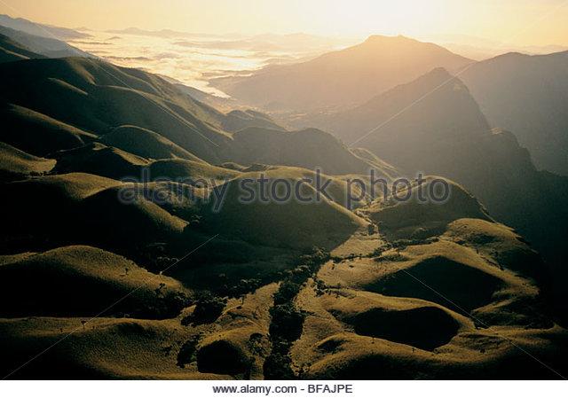 Nilgiri Hills (aerial), Western Ghats, India - Stock-Bilder