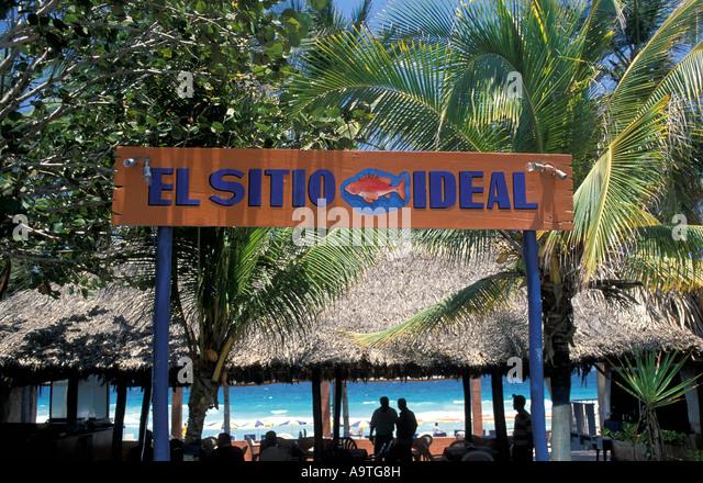 Isla Margarita island Venezuela Playa El Aqua beach - Stock Image