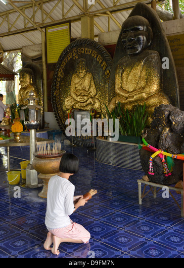 Wat Huay Monkol, a pilgrimage place and tourist attraction near Hua Hin, Thailand, Southeast Asia - Stock Image