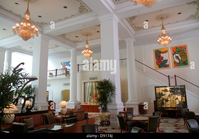 Singapore Bugis Junction InterContinental hotel lobby interior inside - Stock Image