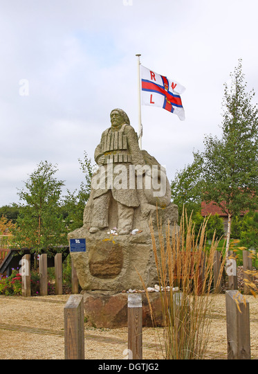 Royal National Lifeboat Institute RNLI memorial landscaped garden at the National Memorial Arboretum Staffordshire - Stock Image