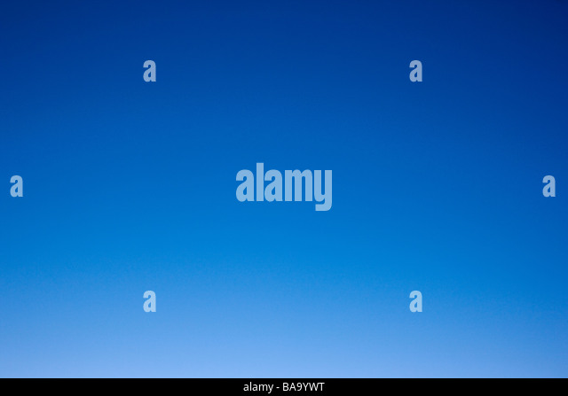 Crystal clear blue Colorado sky - Stock Image