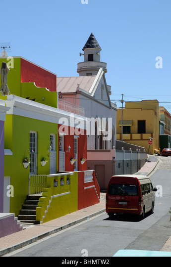 Hilton Ross tourist bus in the Malay Quarter Cape Town South Africa - Stock Image