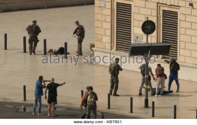 Marseille,France. October 1st, 2017. [Warning: Explicit Content] At least one person has died in a knife attack - Stock Image