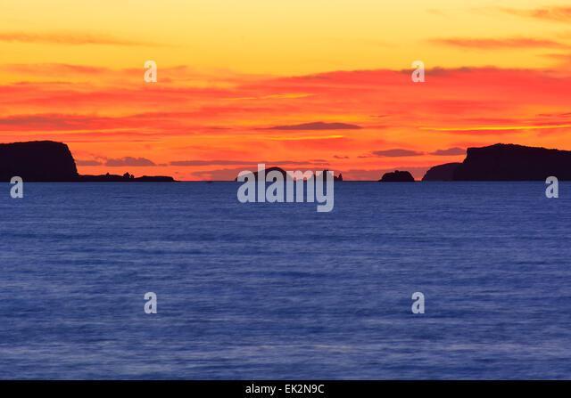 Sunset in Ibiza, Spain - Stock Image