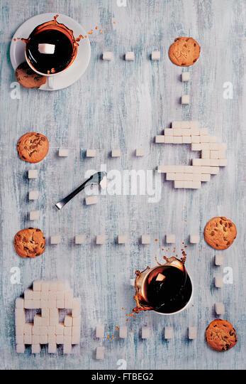 8 bit teatime Series —  Pac-Man 2_0 - Stock Image