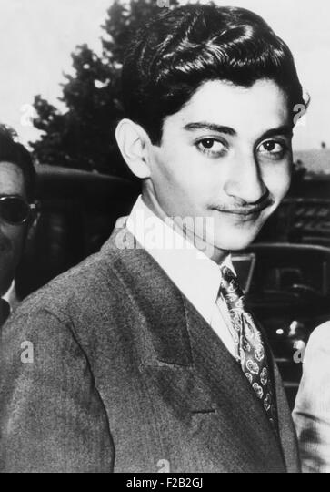 Hamid Riza Pahlavi, 15 year old half-brother of the Shah of Iran, in New York on July 2, 1947. He was escaping school - Stock Image