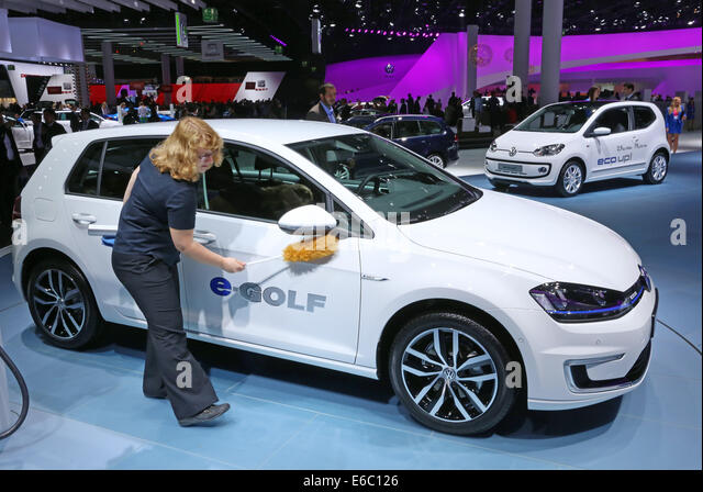 VW e-golf electric car at the 65th International Motor Show IAA 2013 in Frankfurt/Germany - Stock Image
