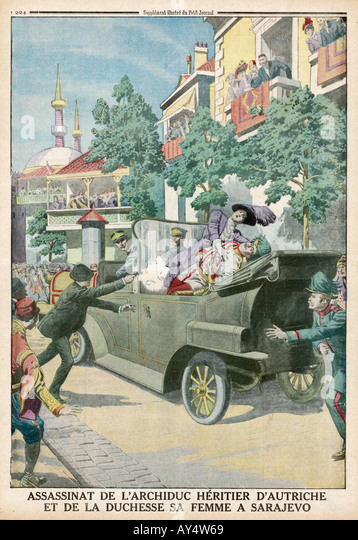 Ferdinand Assassinated - Stock Image