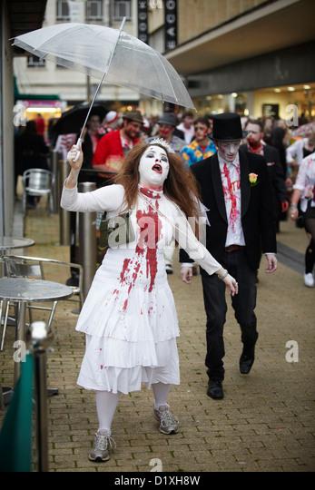 Bristol Zombie Walk - Stock Image