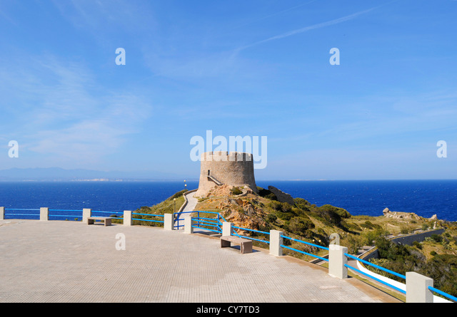 View of Spanish tower - Stock Image