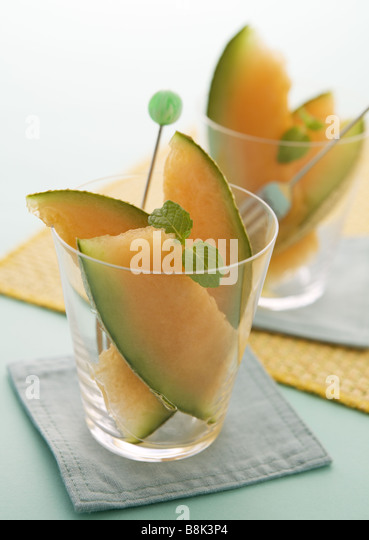 Melon dessert - Stock Image