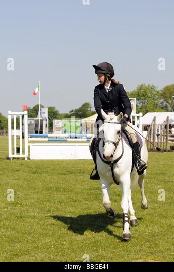 Pony Club Team Show Jumping at the Brigstock International Horse Trials , Northamptonshire, England, UK 2009. - Stock Image