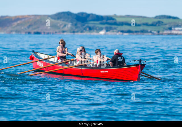 The annual Isles of Scilly World Pilot Gig Championships, April, 2017 - Stock Image