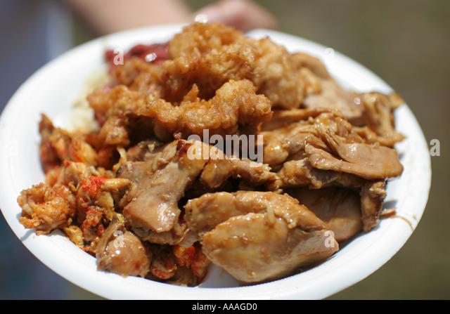 Florida, Zydeco Festival, Cajun food, chicken, - Stock Image