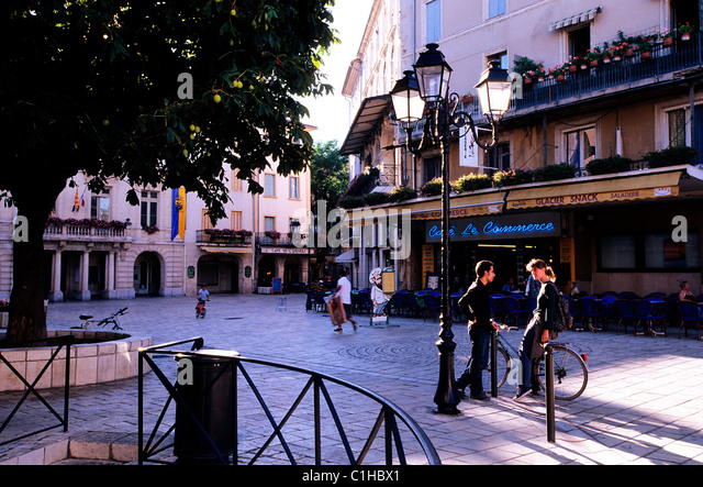 France, Vaucluse, Orange, General Clemenceau square - Stock Image