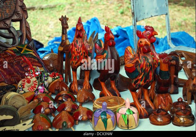 Craft market jamaica stock photos