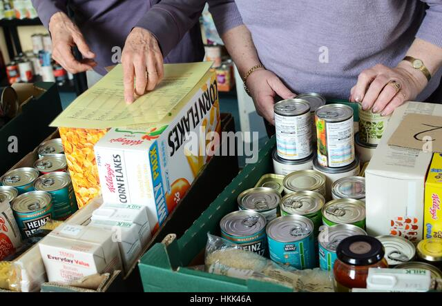 Food bank, Cornwall UK. - Stock Image