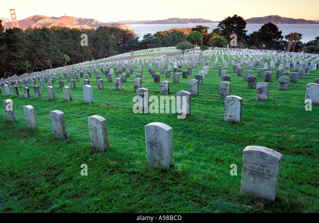 California, San Francisco, Military Cemetery, Presidio, GGNRA - Stock Image
