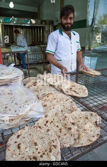 Iran,Esfahan City,Bakery, - Stock Image