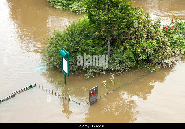 Paris, France. 06th June, 2016. Flood decrease, Seine river, square du vert galant, Paris, 06/06/2016 Credit:  Ignacio - Stock Image