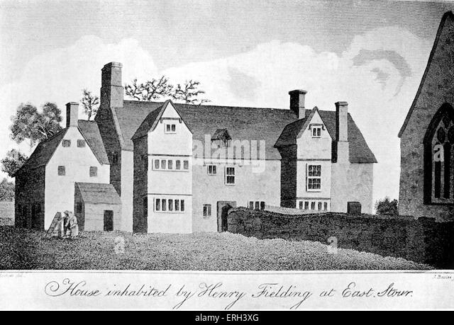Henry Fielding 's house at East Stour.  1813 print (copy). English novelist and dramatist: 22 April 1707 – 8 - Stock Image