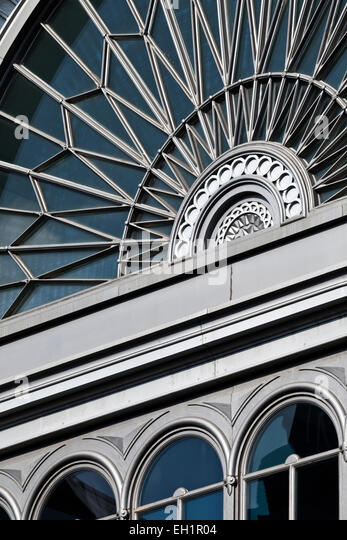 Silver facade of the Roast Restaurant at Borough Market, Stoney Street, Southwark, SE1, London, England. New extension - Stock Image