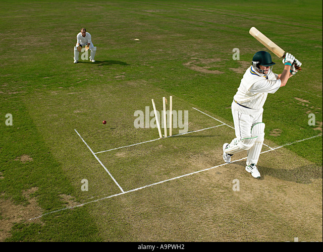 Cricketers - Stock Image