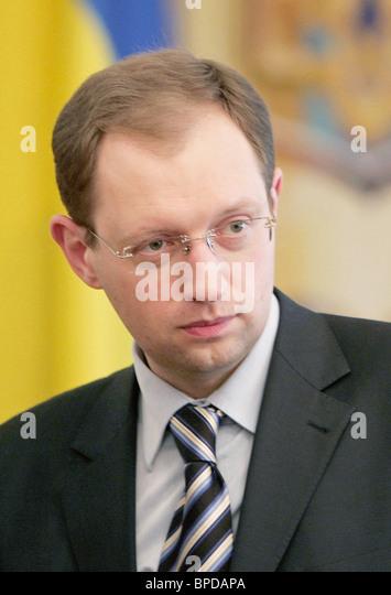 Minister for Foreign Affairs of Ukraine Arseniy Yatsenyuk - Stock Image