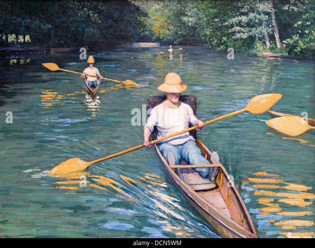 19th century  -  Esquifs - Gustave Caillebotte (1877) Philippe Sauvan-Magnet / Active Museum - Stock Image