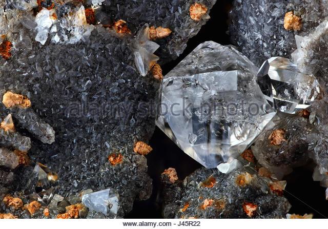Quartz in Septaria, Mirabeau Diamond, Herkimer Diamond - Stock Image