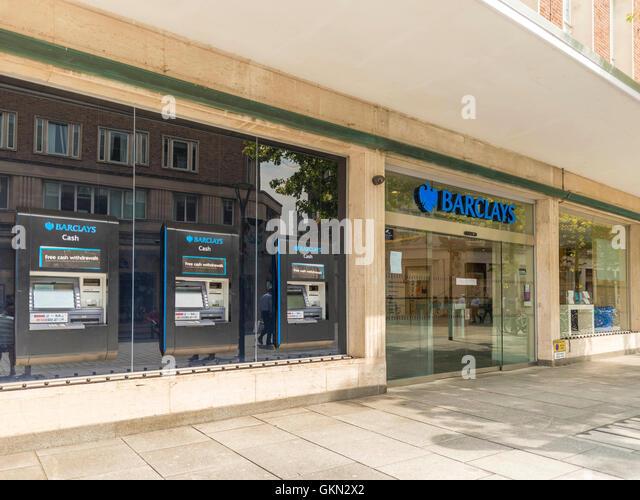 Barclay's Bank, Exeter City Centre, Devon - Stock Image