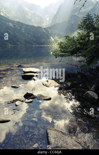 Morskie Oko 'Marine Eye' Lake, Tatra Mountains, Poland. - Stock Image