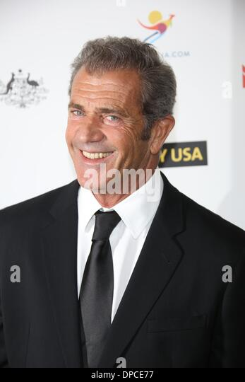 Los Angeles, USA. 11 January 2014.Actor Mel Gibson attends the 2014 G'Day USA Los Angeles black tie gala at - Stock Image