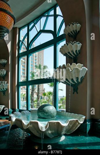 Lobby, Atlantis, The Palm, Hotel, Dubai, United Arab Emirates, Middle East - Stock Image
