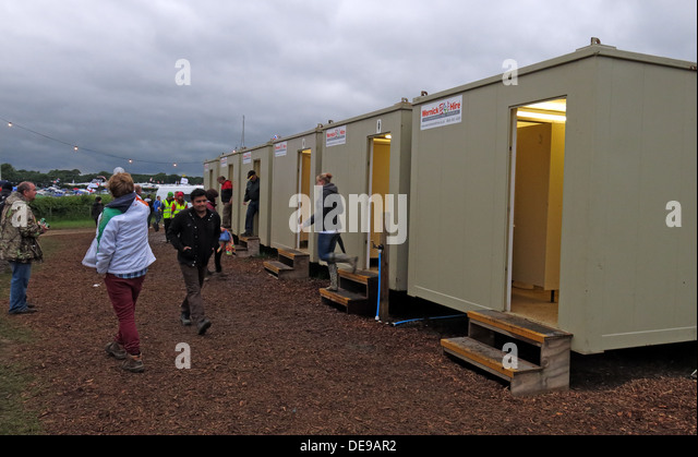 Festival and event toilet facilities - Stock Image