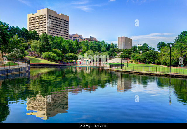 Finlay Park in Columbia, South Carolina. - Stock Image