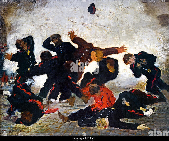 The Explosion 1871 Édouard Manet 1832 – 1883 France French - Stock Image